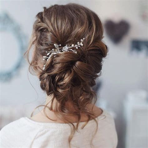 beautiful loose curl bridal updo hairstyle perfect
