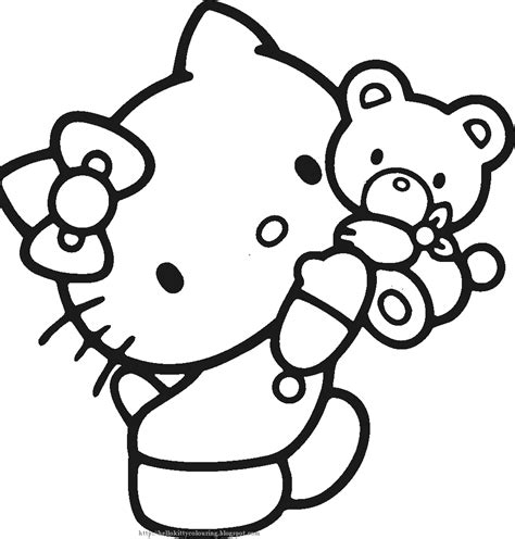 COLORINGPAGES: CUTE HELLO KITTY COLOURING PICTURES