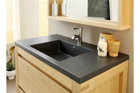 meuble de salle de bain chene clair novomeuble