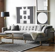 Sectional Living Room Couch Trendy Design Designing Rooms With An L Shaped Sofa Feng Shui Interior Decor The