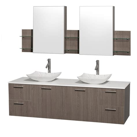 medical cabinets with sink wyndham collection wcr410072dgowsgs6med amare 72 inch