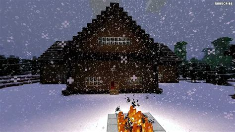 minecraft building design ideas snow biome houses youtube