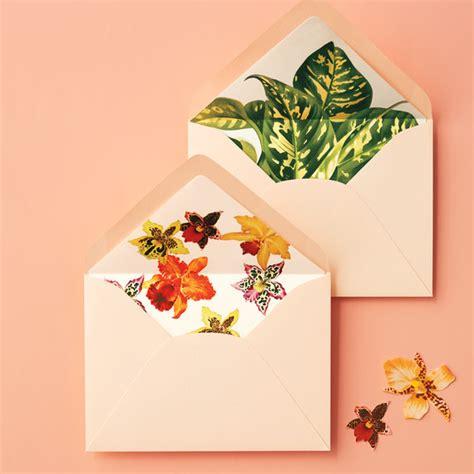 tropical envelope liners martha stewart weddings