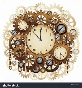 Steampunk Clock Clipart (88+)