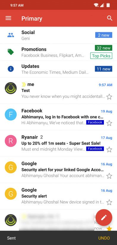 gmail now lets you undo sent messages on android but you only get 10 seconds