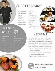 34 best resume images on pinterest resume examples With chef portfolio template