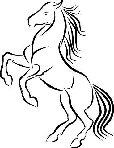 Free Image on Pixabay - Horse, Tattoo, Logo, Jump, Line
