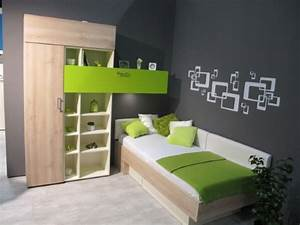 Jugendzimmer grün grau