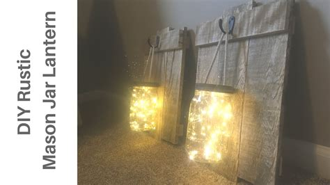 Awesome Diy Rustic Mason Jar & Pallet Wood Lantern Sconce