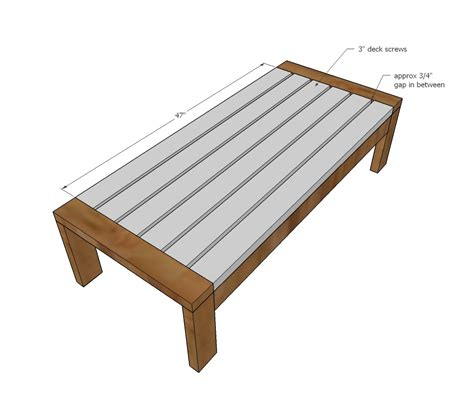 To help celebrate (bearable) outdoor weather, i made a custom outdoor table with a chevron. Ana White   2x4 Outdoor Coffee Table - DIY Projects