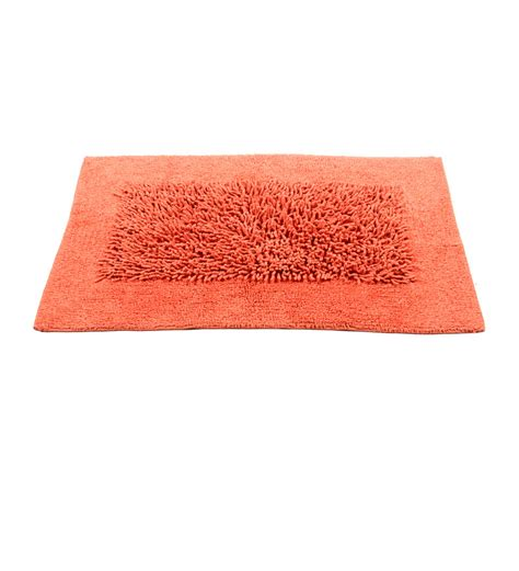 homefurry reddish orange scrambled box bath mat by