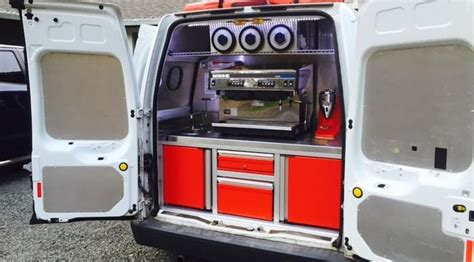 mobile coffee van ready   ford transit connect