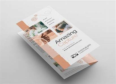 Brochure Fold Tri Template Service Psd Vector