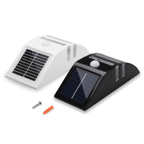 wireless outdoor solar powered motion sensor detector led