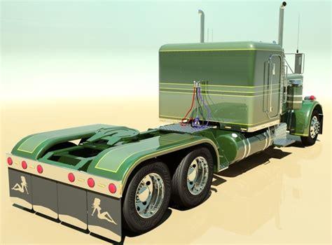 model semi trucks 359 custom semi truck 3d model max obj 3ds fbx cgtrader com