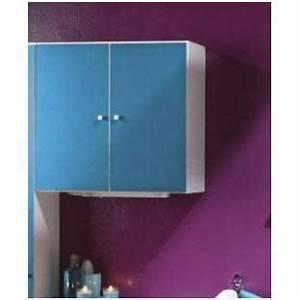 Meuble Mural Salle De Bain : meuble mural de salle de bain 2 portes bleuet 9 achat vente petit meuble rangement meuble ~ Teatrodelosmanantiales.com Idées de Décoration