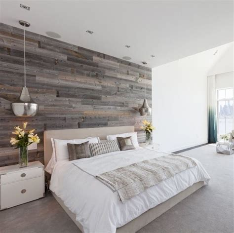 Bedroom Feature Walls by Hoboken Master Bedroom Design With Reclaimed Wood Feature