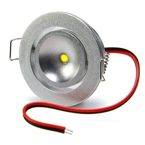 cool white 1 watt led recessed light fixture dome puck