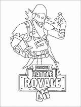 Fortnite Coloring Pages Printable Skins Drift Raven Bomber Night sketch template