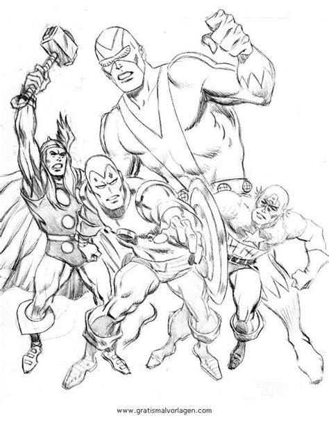 avengers  gratis malvorlage  avengers comic