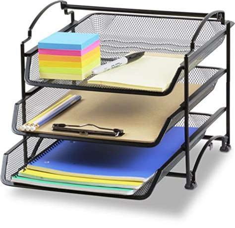 Office Desk Trays by Stackable Desk Organizer Trays File Holder Storage Paper