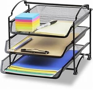 galleon simplehouseware 3 tier stackable desktop With simplehouseware 6 trays desktop document letter tray organizer black