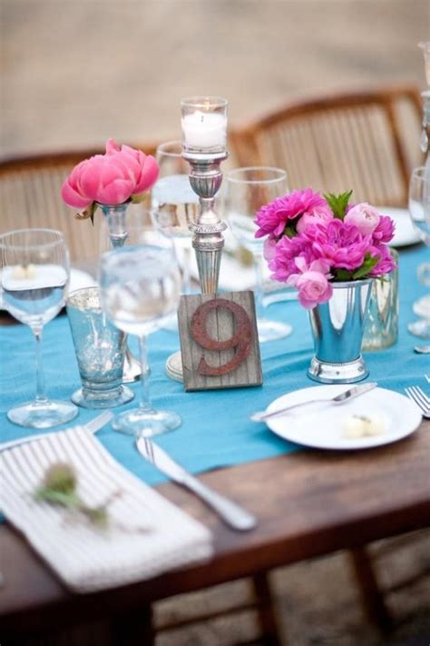 Turquoise Wedding  Turquoise Wedding Table Decoration