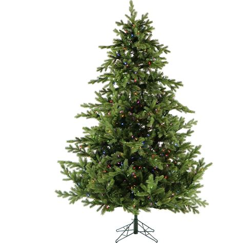 holiday living 7 ft denver pine tree 7 ft southern peace pine tree with multi color led string lighting ffsp075 6grez