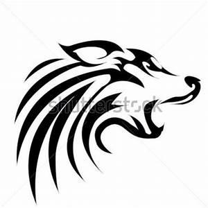 Wolf Head Profile Silhouette