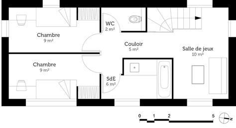 salon ouvert sur cuisine plan maison moderne en u ooreka