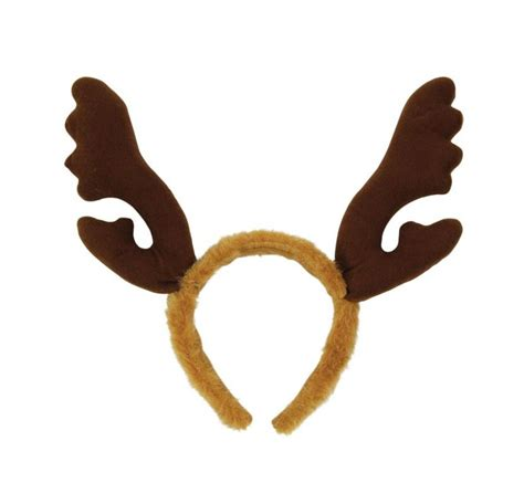 rudolph antlers reindeer antlers with brown fur headband christmas accessories mega fancy dress