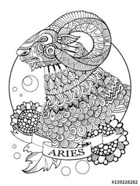 Leo zodiac sign coloring page for adults   Fotolia