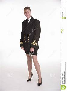 Woman Navy Officer In Her Uniform Stock Photo - Image of ...