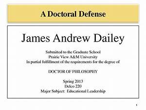 Thesis defense presentation