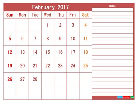 printable calendar templates february png