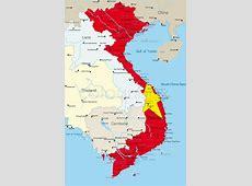 Vector map of Vietnam Land durch Vektorgrafik