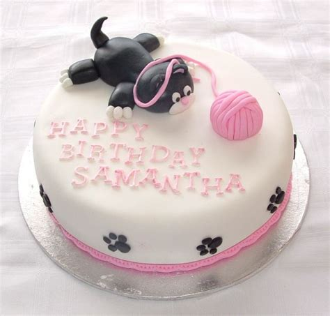 Check out our cat birthday cake selection for the very best in unique or custom, handmade pieces from our pet food & treats shops. Themed Cakes, Birthday Cakes, Wedding Cakes: Cat Themed Cakes | Birthday cake for cat, Kitten ...