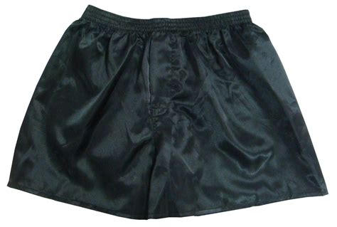 Black New Men's Satin Boxer Shorts Buy 2 Get 1 Free