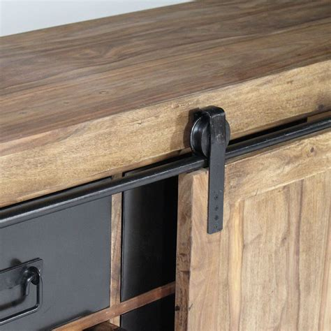 meuble bureau porte coulissante buffet industriel porte coulissante bois naturel made in