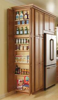 this utility cabinet s adjustable shelves make storing all of your pantry items easy and give