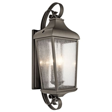 forestdale olde bronze three light outdoor wall sconce