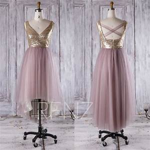 dusty rose bridesmaid dress gold sequin wedding dress v With dusty rose wedding dress