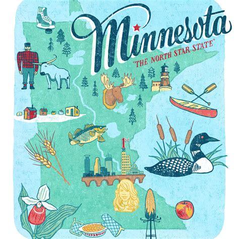 Minnesota print – Drawn the Road Again