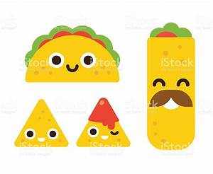 Cute Mexican Food stock vector art 535449864 | iStock