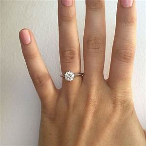 size 55 145 ct colour h excellent cut polish With wedding ring hand