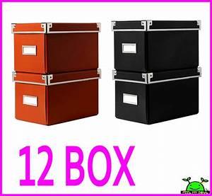 Ikea Cd Box : 12 ikea cd storage box organizer containers w lids label holders new ebay ~ Frokenaadalensverden.com Haus und Dekorationen