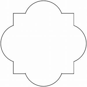 5 best images of quatrefoil stencil printable free With moroccan shapes templates