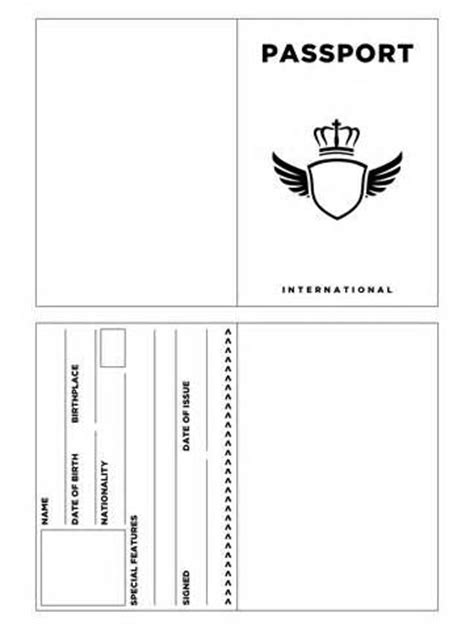 printable passport template kids carolines