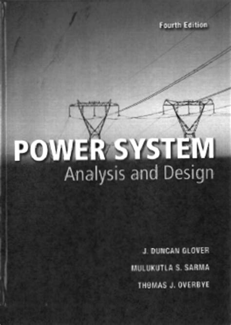 ebook power system analysis and design pdf