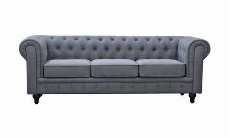linen chesterfield sofa grey linen chesterfield sofa
